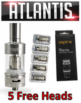 Aspire Atlantis Sub ohm Tank with 5 Free Heads